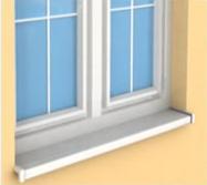 Universella fönsterbrädor i PVC