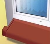 Utvändiga fönsterbrädor i aluminium – i pressat utfärdande